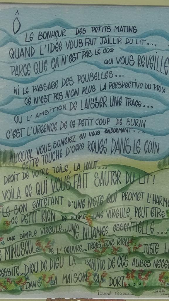 """Lever d'artiste"" de Daniel Pennac."